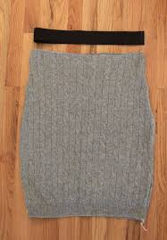 easy cable knit pencil skirt made from a sweater it s always