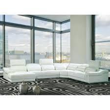 canap d angle en cuir blanc canapé d angle droit panoramique cuir blanc achat vente canape