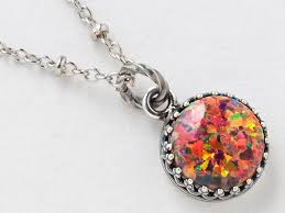 opal pendant necklace images Silver opal necklace fire opal pendant mexican opal necklace in jpg