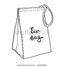 lunch bag reusable textile eco lunch stock vector 604074632