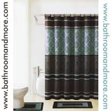Shower Curtains Sets For Bathrooms by Blue And Brown Bathroom Bath Shower Curtain And Bath Rug Set