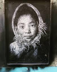 tableau portrait noir et blanc culturederue on topsy one
