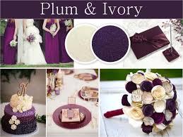 april wedding colors plum ivory jpg