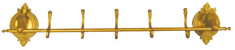 brass horse hat and coat rack