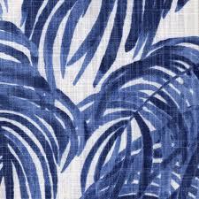 Tropical Curtain Panels Rod Pocket Curtain Panels Pair Villa Wedgewood Palm Leaf Blue