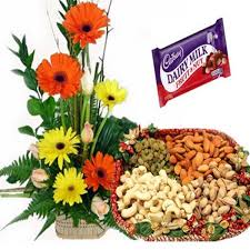 flowers and dryfruits combo send flowers and dryfruits to india