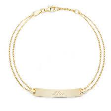 custom gold bracelets personalized gold bracelets