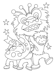 happy new year preschool coloring pages dragon chinese new year coloring pages jpg 1022 1323 craft