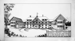 copy of architect u0027s sketch of grace hospital captioned proposed