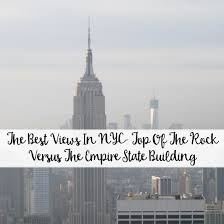 the best views in nyc top of the rock versus the empire state
