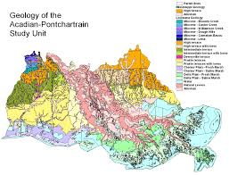 Parish Map Of Louisiana Surface And Groundwater Hydrology Acadian Pontchartrain Nawqa