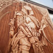laser engraved wooden posters you can only appreciate with a