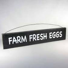 farm fresh eggs sign rustic wood farmhouse style home decor