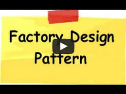factory design pattern factory design pattern