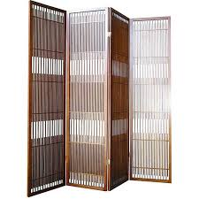 Panel Room Divider Walnut Wood 4 Panel Room Divider Free Shipping Today Overstock