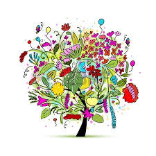 floral tree for your design illustration royalty free cliparts