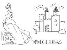 cinderella castle coloring pages printable print free disney sand
