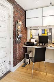 Red Brick Walls Interior Design 34 Home Office Designs With Exposed Brick Walls Digsdigs
