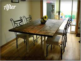 rustic chic dining table 10087