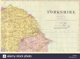 North East Map Yorkshire North East Scarborough Whitby Antique County Map By