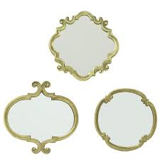 Decorative Wall Mirror Sets Manificent Design Set Of 3 Wall Mirrors Surprising Ideas Shire