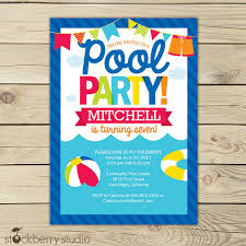 pool party invitations pool party birthday invitation printable pool party