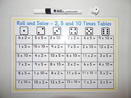 roll and solve 2 5 u0026 10 times tables game ks1 sen year1 2