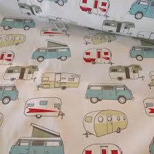 fabric by the yard rv camping home decor vw traveler vanagons