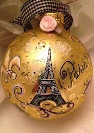 eiffel tower winter globe ornament beautiful ornaments