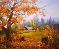 fields colors season nature splendor beautiful house autumn