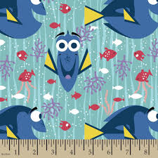 Halloween Flannel Fabric Disney Finding Dory Finding Dory Happy 42 43 Fabric By The