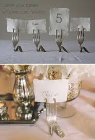 wedding table number holders silver fork card holders wedding table number holders name card