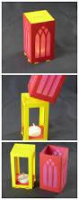 lasercut paper lantern 160gsm card led tea light 6x6x11cm