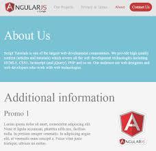 responsive website using angularjs