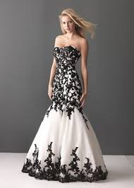 white black lace wedding dress black white wedding gown lace summer banquet