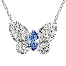 swarovski necklace butterfly images New austrian crystal small butterfly pendant necklace cute animal jpg