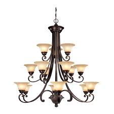 15 light chandelier six light chandelier with bell shaped glass shades