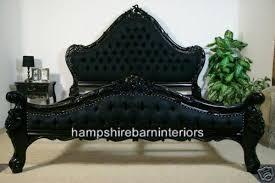 charles bed in gloss black hampshire barn interiors