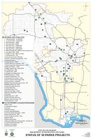 Los Angeles River Map by Map 50 Parks City Of Los Angeles Department Of Recreation And