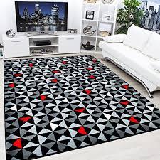 Black Large Rug Large Red Rug Amazon Co Uk