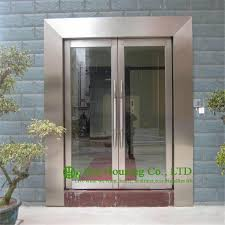 Exterior Glass Door Shopping Mall Stainless Steel Glass Door Stainless Steel