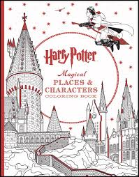 harry potter magical places u0026 characters coloring book scholastic