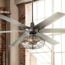 Caged Ceiling Fan With Light Industrial Style Ceiling Fans Visualizeus