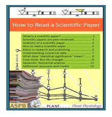 Anatomy And Physiology Of The Back Plantae U201chow To Read A Scientific Paper U201d And U201ccase Study