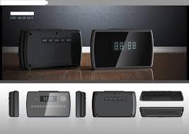 sxe blue dot matrix display alarm clock with portable power bank
