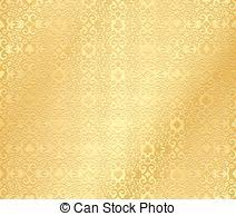 vector illustration of golden seamless pattern with card