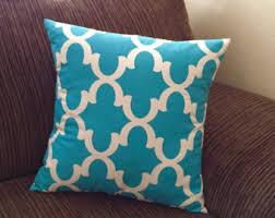 teal throw pillow etsy