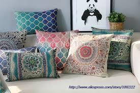 Home Decor Cushions Aliexpress Com Buy Bohemian Pillows Cases Geometric Cushions