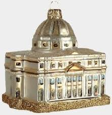 st peters cathedral vatican city glass ornament