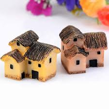 new resin micro landscape ornaments mini house model